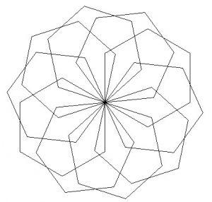 Blank repeated hexagon