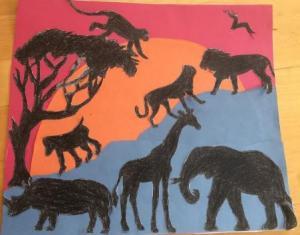 African silhouette EC