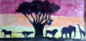 African silhouette SM