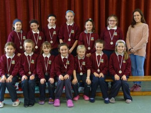 Girls Mini7's Medals presented (2)